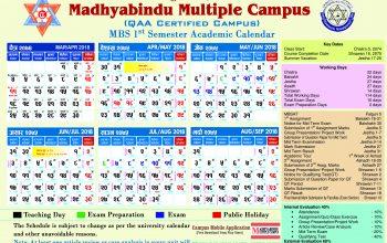 MBS 1st semester academic calendar